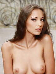 Delightful erotic charmer with a gorgeous figure, perfectly round boobs, and long, slender legs.